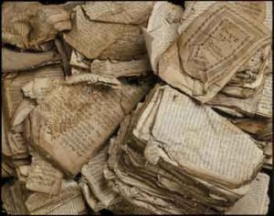 Pile of Hebrew prayer books